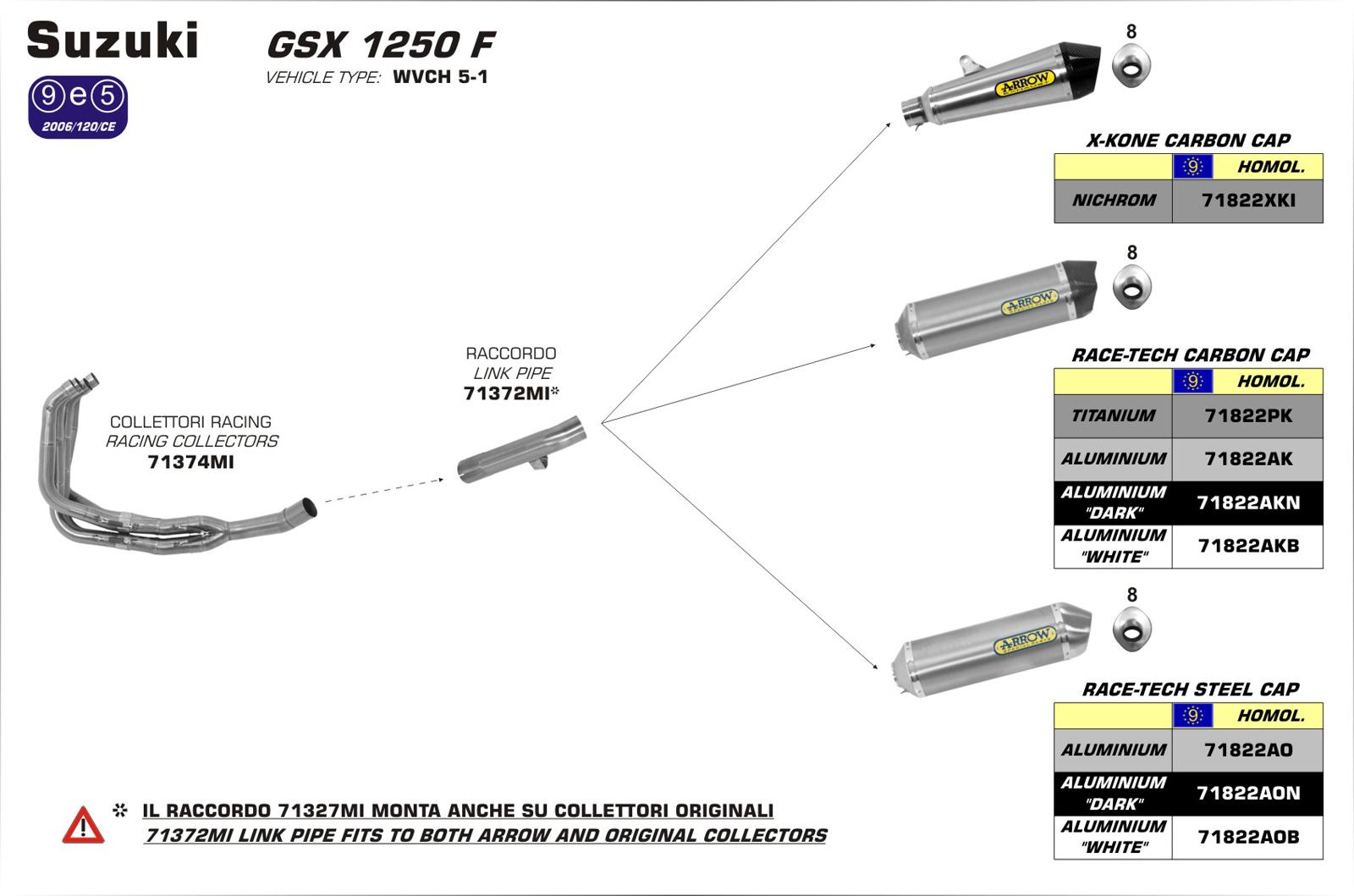 Em Lineamoto Arrow 71822xki Suzuki Bandit 1250 Wiring Diagram X Kone Silencer