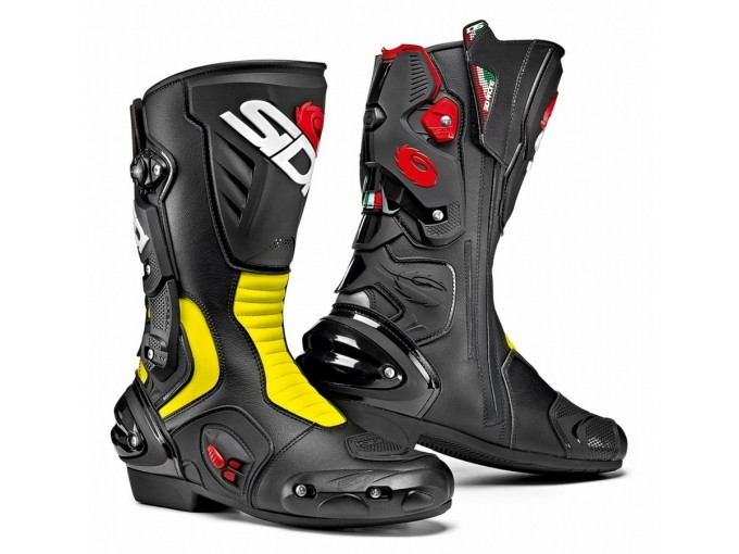 LineamotoSidi Stivali Giallo Racing Em Moto 2 Vertigo Nero Fluo H29IDYWE