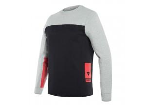 Maglia Tecnica Moto Uomo Dainese Contrast Sweatshirt Melange Nero