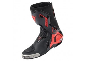 Stivali In Pelle Racing Torque D1 Out Dainese Nero/Rosso-Fluo