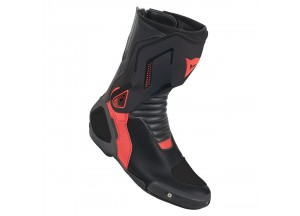 Stivali In Pelle Racing Nexus Boots Dainese Nero/Rosso-Fluo
