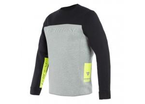 Maglia Tecnica Moto Uomo Dainese Contrast Sweatshirt Nero Melange