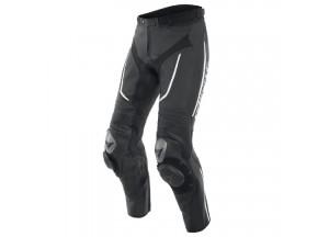 Pantaloni Dainese in Pelle Traforato Alpha Nero Bianco