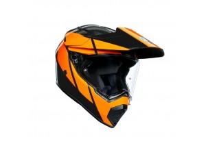 Casco Integrale Agv AX 9 Trail GunMetal Arancione