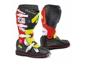 Stivali Forma Off-Road Motocross MX Terrain TX Nero Giallo Fluo Rosso