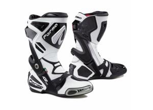 Stivali In Pelle Racing Forma Ice Pro Bianco Nero