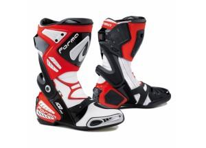 Stivali In Pelle Racing Forma Ice Pro Rosso Bianco Nero