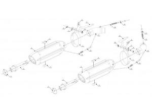 D.025.L7 - Terminali Scarico Marmitte Mivv Suono Steel Ducati Monster 796/1100