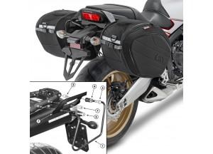 Borse Laterali Givi EA100B + telaietti specifici per Yamaha MT-03 600 (06 > 14)