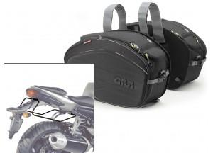 Borse Laterali Givi EA100B + telaietti specifici per Yamaha FZ1 1000 (06>15)