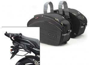Borse Laterali Givi EA100B + telaietti specifici per Yamaha FZ6/Fazer (04>06)