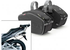Borse Laterali Givi EA101B + telaietti specifici per Honda GSR 600 (06>11)