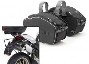 Borse Laterali Givi EA101B + telaietti specifici per Ducati Monster (08>14)