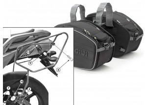 Borse Laterali Givi EA101B + telaietti specifici per Yamaha FZ6 S2 / Fazer S2