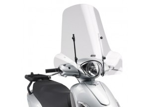 107A - Givi Parabrezza trasparente 50,8x66cm KeeWay Goccia 50 (09 > 11)