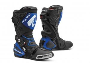 Stivali In Pelle Racing Forma Ice Pro Nero Blu