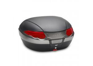 K56N - Kappa Valigia MONOKEY® nera goffrata con catadiottri rossi 55/56 lt