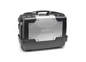 KGR33 - Kappa Valigia MONOKEY® GARDA lt. 33 nera con cover color alluminio
