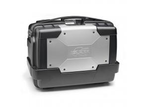 KGR46 - Kappa Valigia MONOKEY® lt. 46 nera con cover color alluminio