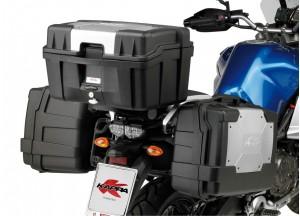 KGR33PACK2 - Kappa Set 2 Valigie MONOKEY® lt. 33 nera con cover color alluminio