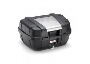 KGR52 - Kappa Valigia GARDA MONOKEY® lt. 52 nera con cover color alluminio
