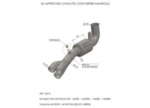 16016 - Collettore Scarico LeoVince Catalizzato YAMAHA MT-09 / XSR 900 / FZ-09