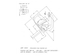 0244 - Marmitta Leovince Sito 2 Tempi Piaggio APE TMP 50 EUROPA MIX KAT