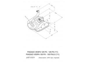 0254 - Marmitta Leovince Sito 2 Tempi VESPA 125 PX