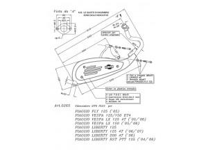 0265 - Marmitta Leovince Sito 2T VESPA LX-V 125 ET4 Piaggio LIBERTY RST PTT 125