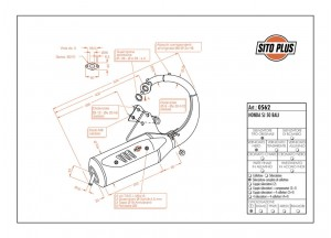 0562 - Marmitta Leovince Sito 2 Tempi Honda SJ 50 BALI