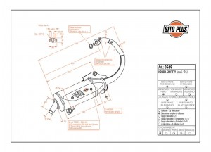0569 - Marmitta Leovince Sito 2 Tempi Honda SH FIFTY