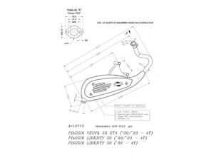 0713 - Marmitta Leovince Sito 4 Tempi Piaggio LIBERTY 50