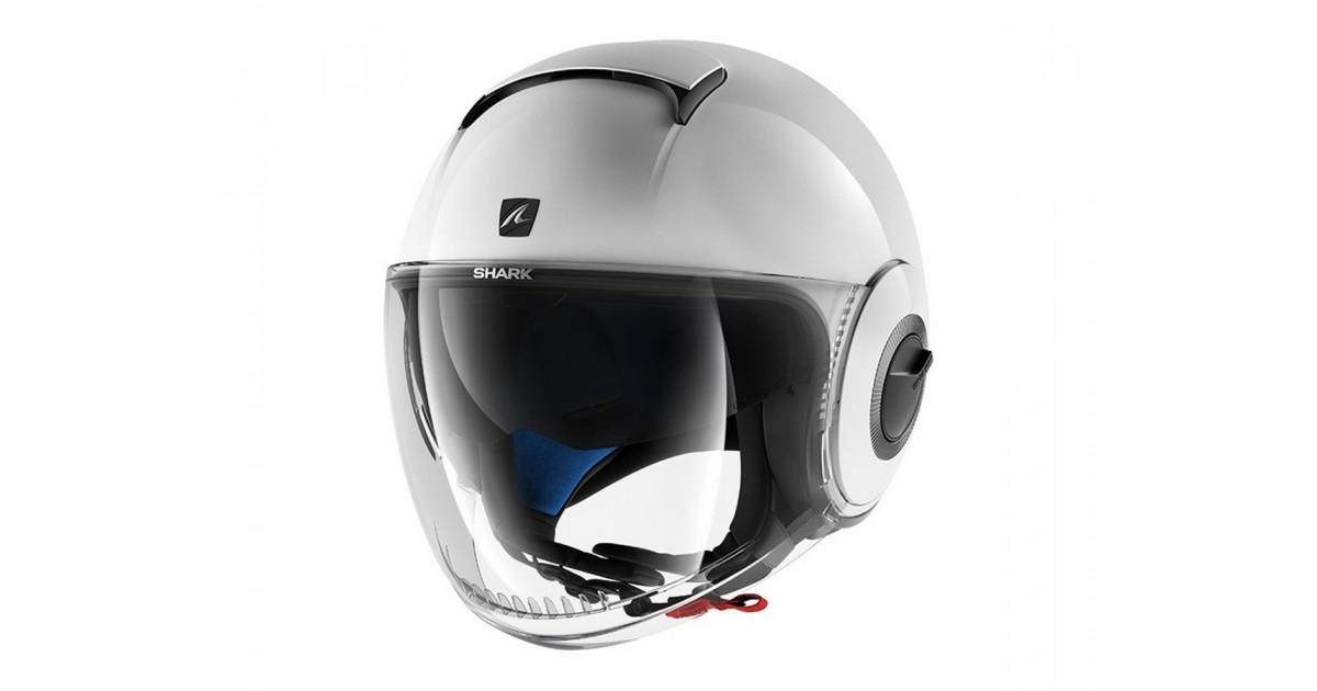 Size XS Black SHARK Nano Blank Motorcycle Helmets