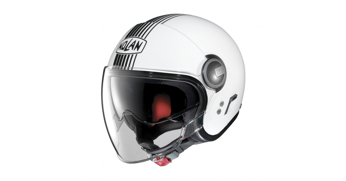 08797357 EM LINEAMOTO | Nolan - N21 Visor Joie De Vivre 41 Metal White - Helmet Jet