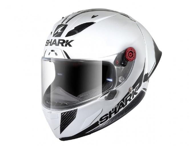Full-Face Helmet Shark RACE-R PRO GP 30TH ANNIVERSARY White Black