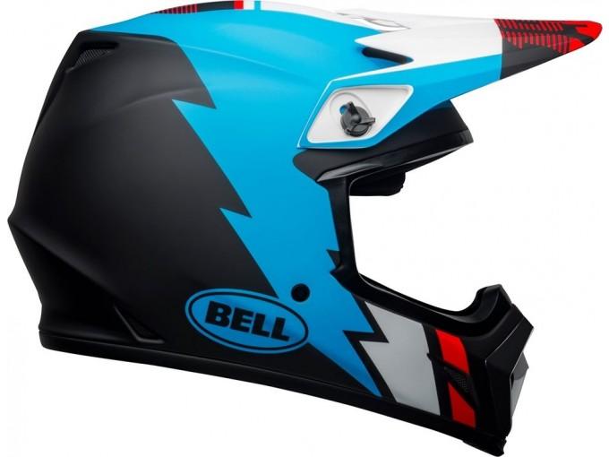 Helmet Bell Off-road Motocross Mx-9 Mips Strike Matt Black Blue White