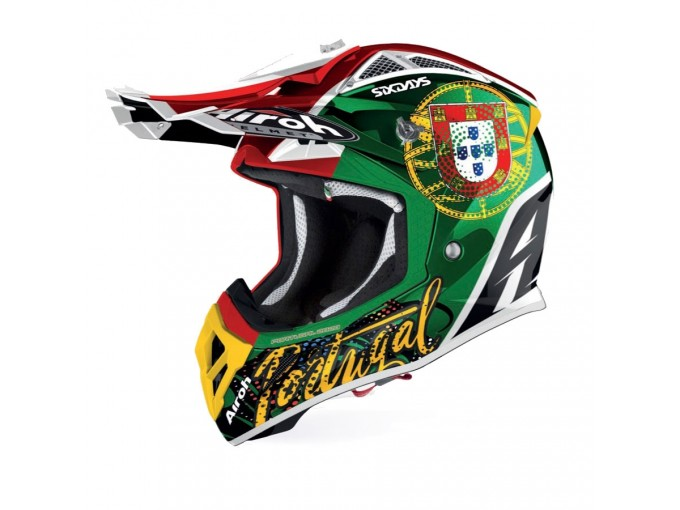 Helmet Full-Face Off-Road Airoh Aviator 2.3 AMS Six Days 2019 Portugal