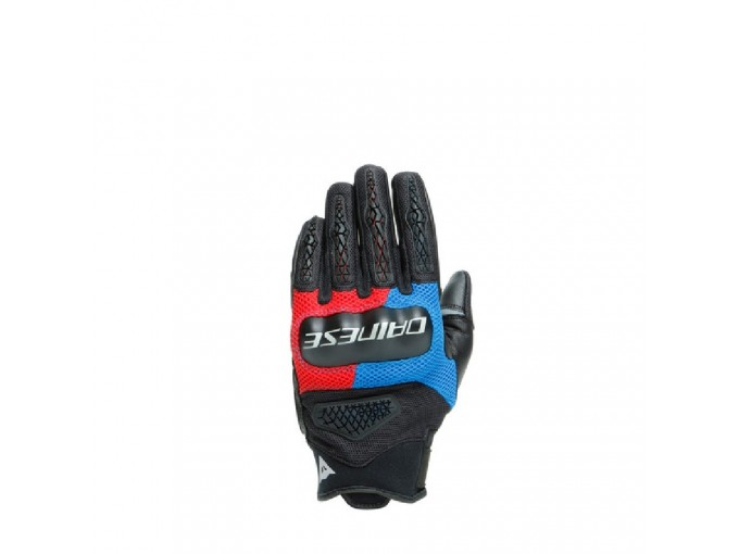 Motorcycle Gloves Man Dainese D-EXPLORER 2 Black Blue Lava-Red