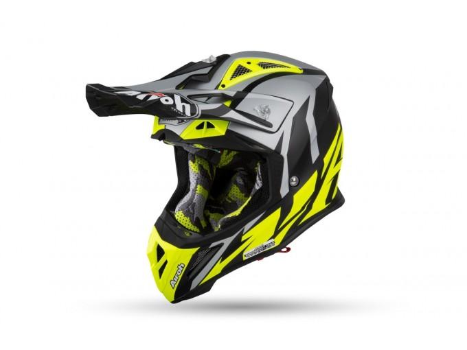 EM LINEAMOTO | Airoh - Aviator 2.3 AMS Great Yellow Matt - Helmet Off-Road