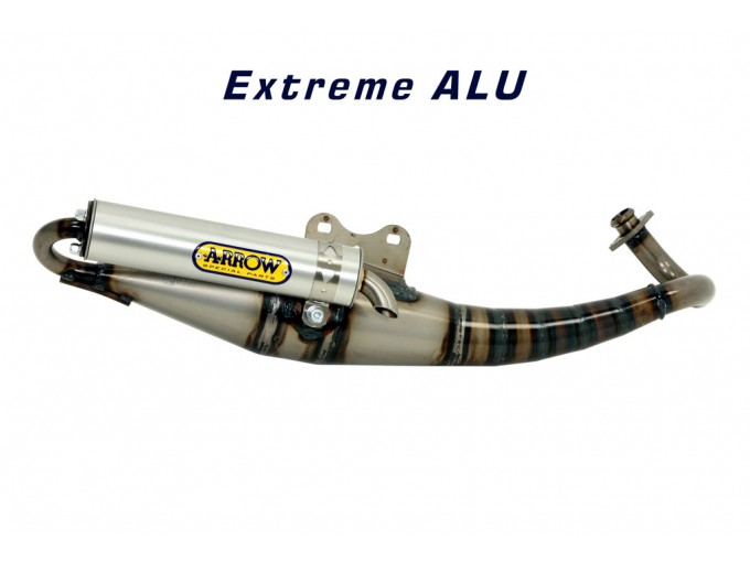 33507ENA - MUFFLER ARROW EXTREME BRUSHED ALUMINIUM PIAGGIO NRG MC2 50 95-01