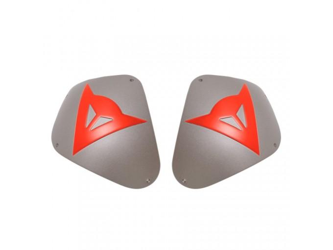 Shoulder Protection Dainese SPORT ALUMINUM Aluminum/Red-Fluo