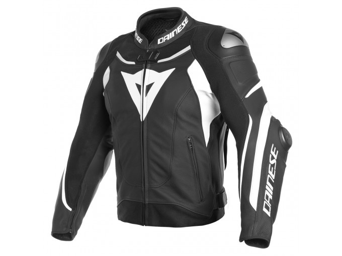 Leather Jacket Dainese Super Speed 3 Black/White/ White