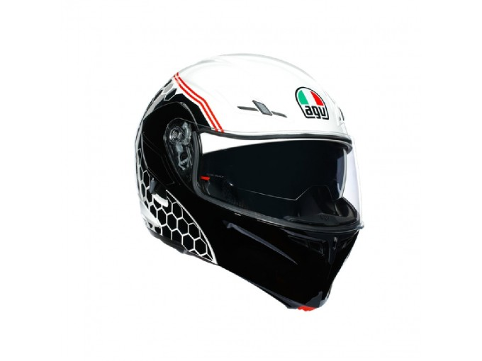 Helmet Flip-Up Full-Face Agv Compact St Detroit White Black