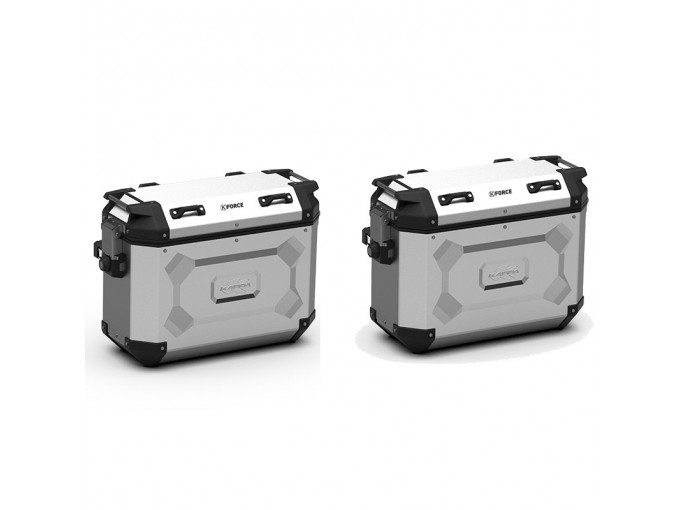 KFR48APACK2 - Kappa Pair of Side Cases MONOKEY K-FORCE aluminum 48 Lt
