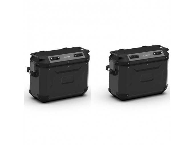 KFR48BPACK2 - Kappa Pair of Side Cases MONOKEY K-FORCE black aluminum 48 Lt