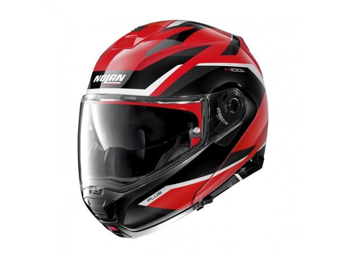 Helmet Flip-Up Full-Face Nolan N100.5 PLUS Overland 36 Corsa Red