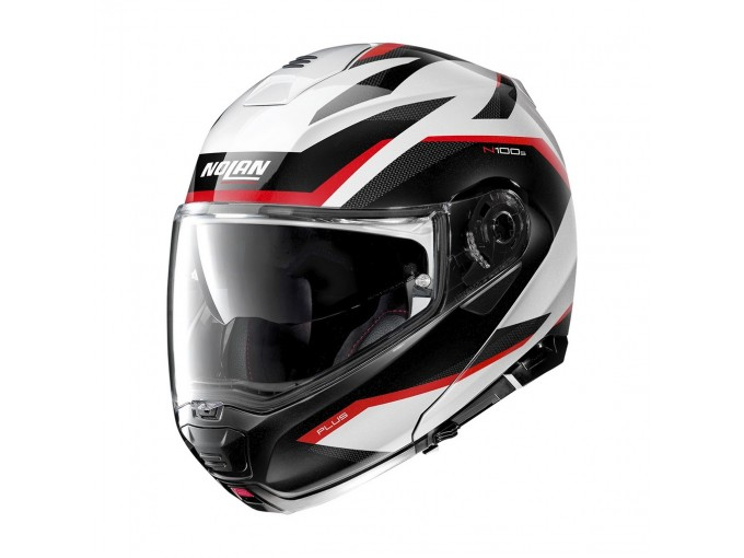 Helmet Flip-Up Full-Face Nolan N100.5 PLUS Overland 34 White Metal