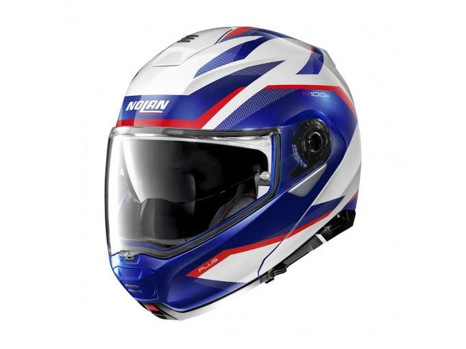 Helmet Flip-Up Full-Face Nolan N100.5 PLUS Overland 35 White Metal