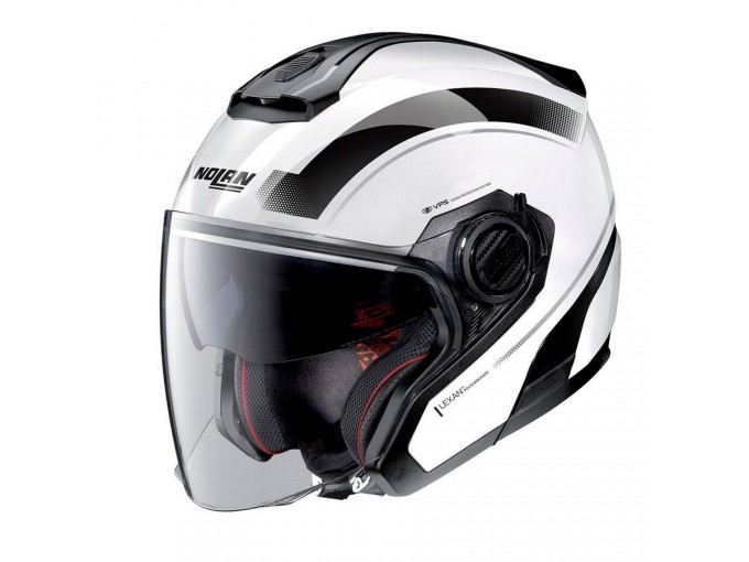 Helmet Jet Nolan N40-5 Resolute 19 Metal White
