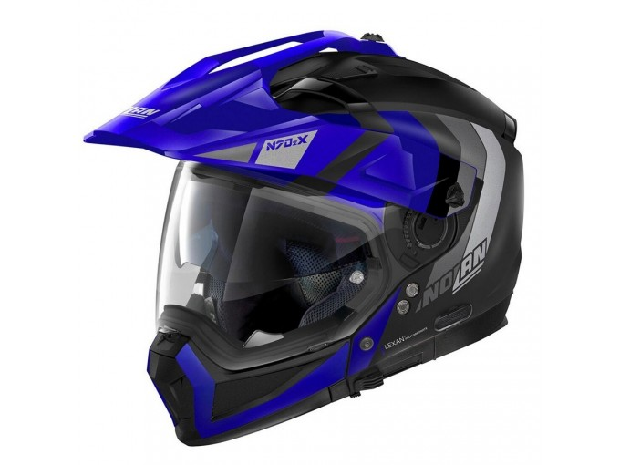 Helmet Full-Face Crossover Nolan N70.2 X DECURIO N-COM 32 Matt-Black Blue